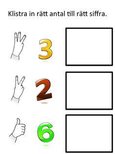 Klipp ut bilderna och lägg eller klistra vid rätt siffra. Här kan du skriva ut materialet: Räkna 1 Räkna 2 Räkna 3 Bilderna kommer från open clipart.