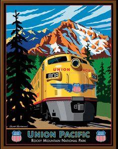 Las Vegas Union Pacific Railroad 1966 Advertising Poster