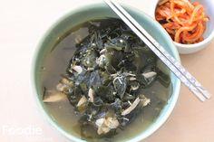 Korean seaweed soup - chicken miyukguk