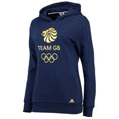 Team GB Big Logo Hoodie - Womens - Night Indigo/Gold