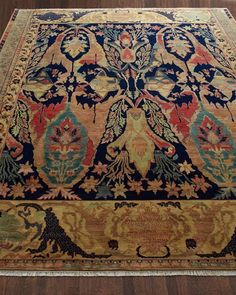 Exquisite Rugs Madigan Rug at Horchow . I think this must be about the most beautiful rug I've seen! Border Rugs, Textiles, Magic Carpet, Hand Tufted Rugs, Indoor Rugs, Carpet Runner, Beige Area Rugs, Decoration, Home Depot