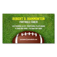 312 best sports coach business cards images on pinterest business football coach business card reheart Gallery