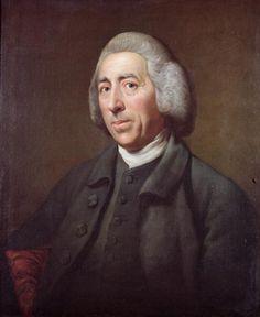 Portrait of Lancelot Capability Brown, eminent 18th c. landscape architect