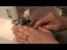 How to Sew with a Serger Tip - Make a Rolled-Hem Napkin
