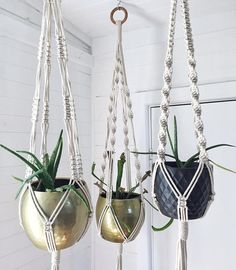 This beautiful Macrame Planter is made from 100% cotton cord hung from a wooden macrame hoop measuring 7.5cm in diameter and just over 1cm in thickness. The knotted design measures approximately 70cm long with 40cm of tassel. This hanger will fit any pot measuring between 20 and 30cm in diameter. This is the perfect addition to your home, office or studio for a chic, boho look. This macrame planter is made to order so please allow up to 2 weeks for shipping.  TESTIMONIAL: OH my goodness it…