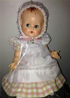 "CUTE 16"" Vintage Hard Plastic Pedigree Delite Bent Leg Baby Doll #Pedigree"