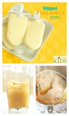 Whipped Pineapple Pops - Your favorite pineapple dessert, made into a popsicle!  http://www.superhealthykids.com/whipped-pineapple-pops/