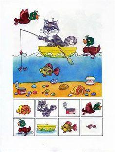 Find the picture - Encuentra la imágen Speech Therapy Activities, Brain Activities, Kindergarten Activities, Activities For Kids, Gross Motor Activities, Educational Activities, Preschool Printables, Preschool Crafts, Sequencing Pictures
