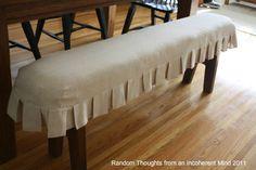 Slip covered bench