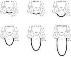 necklace lengths | are terms for necklace lengths here s a guide to show you the lengths ...