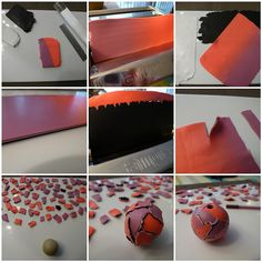 Picture tute:  More torn-paper & watercolour beads by Ilsy Poppins  2009, via Flickr.  Nice colors ~ Polymer Clay Tutorials