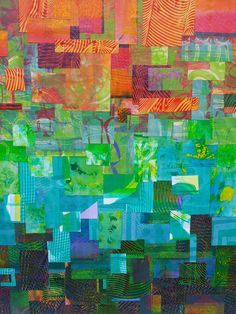 """""""Ombre"""" style collage, using prints from my Gelli Arts Gel Printing Plate 