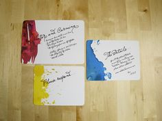 watercolor invites by Hip Ink - Family art project?