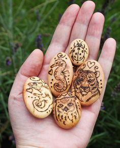 """Spirit Totem Animals: """"Small Totem Pebbles,"""" by BumbleBeeFairy, at deviantART."""