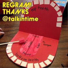 "175 Likes, 12 Comments - PediaStaff (@pediastaff) on Instagram: ""Thanks again, @talkintime!  Increase oral awareness with this fun articulators-craft! Help kiddos…"""