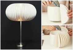 Pappteller Lampe