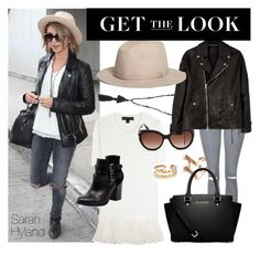 """""""Get the Look - Sarah Hyland"""" by randomfashioncollections ❤ liked on Polyvore featuring Isabel Marant, Burberry, Bonbons, Topshop, MICHAEL Michael Kors, Jimmy Choo, Diesel Black Gold, Brooks Brothers, GetTheLook and rockerchic"""