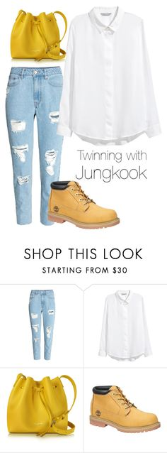 """""""Twinning with Jungkook"""" by mochimchimus on Polyvore featuring H&M, Lancaster and Timberland"""