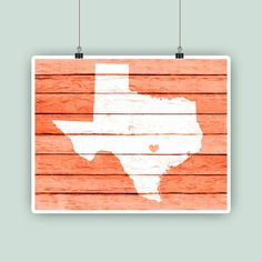 Texas art Texas State map print Texas party Texas by PrintCorner