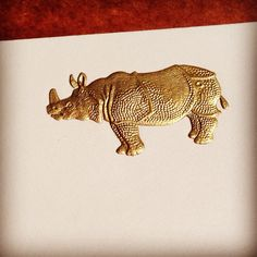 Our Golden Rhino Engraving. #WriteAgain