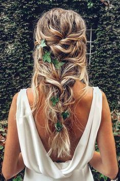 """42 Boho Wedding Hairstyles ❤️ Here you will find a plethora of boho wedding . """" Boho Hairstyles, 42 Boho Wedding Hairstyles ❤️ Here you will find a plethora of boho wedding hairstyles for any tastes, starting with elegant braided updos and ending . Romantic Wedding Hair, Wedding Hair And Makeup, Hair Makeup, Wedding Curls, Wedding Braids, Trendy Wedding, Wedding Ideas, Hairstyle Wedding, Style Hairstyle"""