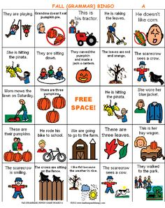 We Are Falling For BINGO! « Heather Speech Therapy