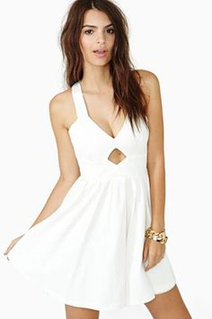 every girl needs a great white sundress in her closet {click to shop} #white #dress