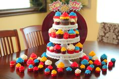 Super Hero Party Cupcakes