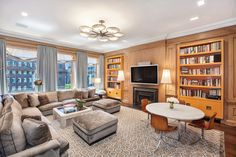 The Den - See Inside Jackie Kennedy's Park Avenue Apartment. The duplex in one of New York's most prestigious buildings was just listed for $29.5 million.
