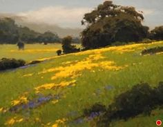 Spring Mustard and Eucalyptus by Brian Blood Oil ~ 14 x 18