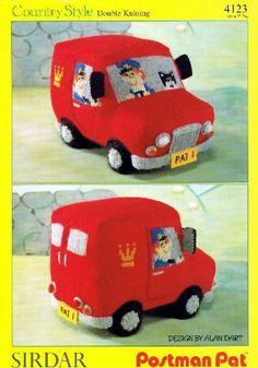 Postman Pat's Van Toy Knitting Pattern (Sirdar 4123), Design by Alan Dart by Alan (Designer) Dart, http://www.amazon.co.uk/dp/B004RUG3UU/ref=cm_sw_r_pi_dp_KsNitb1V82BR6