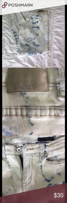 PART SALE !Calvin Klein tie dye jeans Unique artsy jeans from CK. Gr at condition and stylish. Waist laid flat 14. Inseam 30. Straight leg Calvin Klein Jeans Jeans Straight Leg