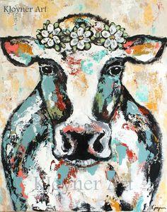 Cow Painting By Kendra Joyner