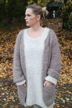 A Norwegian blogger who knitted 3 of Maria Skappel's soft alpaca sweater kits.