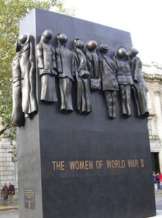 Unveiled in 2005 in Whitehall, near the Cenotaph.  The Women of WWII is a 22ft-high bronze sculpture depicting the uniforms and working clothes worn by women during the war.