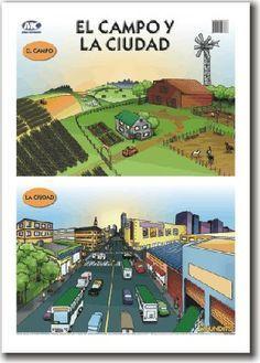Actividades Escolares Imagenes Para Trabajar El Campo Y La Ciudad Actividades De Geografia Recursos De Espanol Ciudades