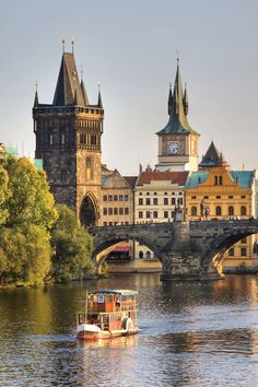 Charles Bridge And Architecture Of The Old Town In Prague, Czech republic