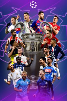 Uefa Champions League Poster, Uefa Champions League Poster Fanart - Wallpaper - Soccer - Football - 2020 - Messi, Ronaldo, and others. Ronaldo Football, Messi And Ronaldo, Football Players, Ronaldo Real, Football Soccer, Uefa Champions League, Soccer Art, Soccer Tips, Nike Soccer