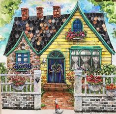 7100 Romantic Country Coloring Book Pinterest Best HD