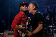 Bruce Springsteen with Tom Morello
