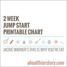 I'm starting today! - 2 Week Jump Start Printables for Jackie Warner's This Is Why You're Fat - AHealthierStory.com