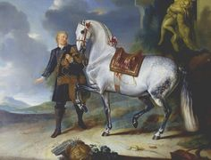 Johann Georg Hamilton: Equine portrait from the Rösslzimmer at Schönbrunn Palace, painting, 18th century