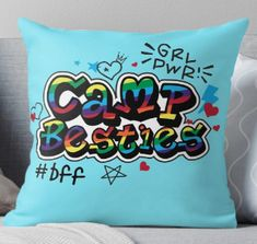 Throw Pillows, Illustration, Toss Pillows, Illustrations, Decorative Pillows, Decor Pillows, Scatter Cushions, Character Illustration