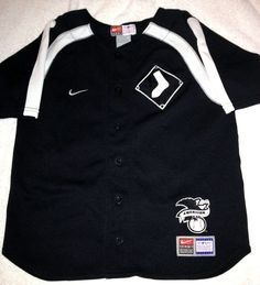 CHICAGO WHITE SOX NIKE EMBROIDERED BUTTON DOWN JERSEY CHILDREN SIZE 7 FREE SHIP #Nike #ChicagoWhiteSox