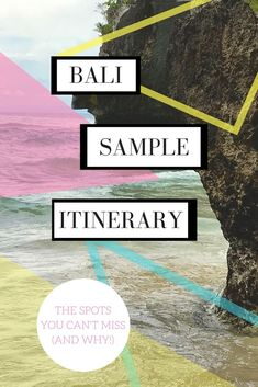 Bali sample itinerary: where to go in Bali