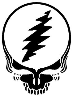 Grateful Dead Bolt Pattern For Patch Or Applique Things I Sketch Coloring Page Grateful Dead Tattoo, Grateful Dead Image, Face Stencils, Face Line Drawing, Pumpkin Carving Templates, Tour Posters, Stencil Templates, Music Images, Logo Images