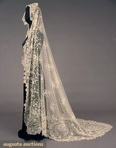 1930s lace wedding veils - Google Search