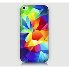 iPhone 4/4S/iPhone 4 - Per retro - per Pop art/Design/Innovativa/Geometrica ( Multicolore , Plastica )
