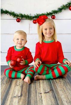 Personalized Kids Christmas PJs - Kids Christmas Jammies - Kids Xmas Pajamas  - Monogrammed Kids Xmas PJs - Family Christmas PJ s - Xmas PJs by ... 1699a341d