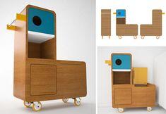Studio e-glue - projet Quakie : appel à fabricant/éditeur pour meuble de rangement pour enfant.